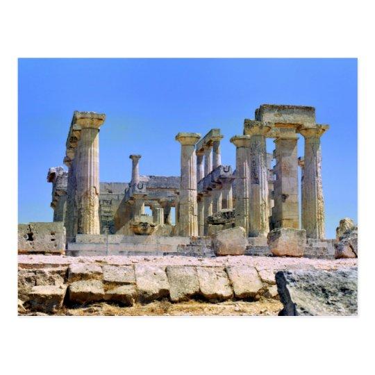 Temple of Aphaia on Aegina 089 Postcard