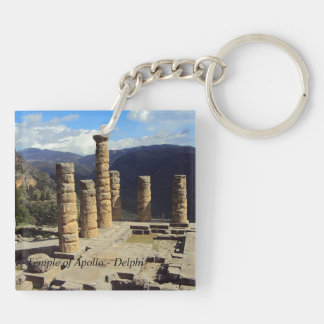 Temple of Apollo – Delphi Double-Sided Square Acrylic Keychain