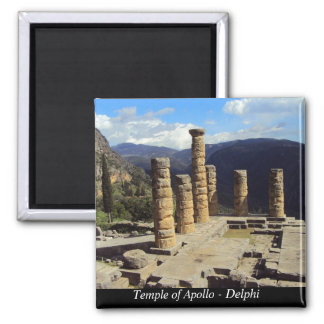 Temple of Apollo – Delphi Square Magnet