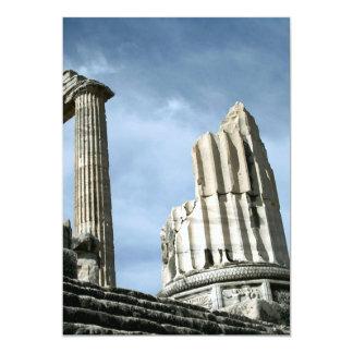 Temple Of Apollo, Turkey 13 Cm X 18 Cm Invitation Card