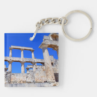 Temple of Athena Aphaea – Aegina Double-Sided Square Acrylic Keychain