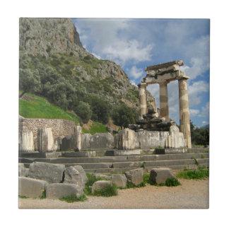 Temple of Athena Pronaea - Delphi Small Square Tile