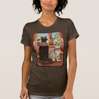 Temple of Bastet Egypt Bast Goddess Cat Art Shirt