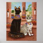 Temple of Bastet Egypt Bast Goddess Cat Poster