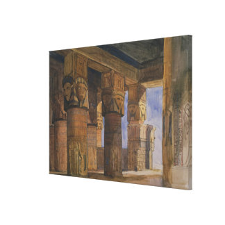 Temple of Denderah, Upper Egypt (w/c on paper) Canvas Print