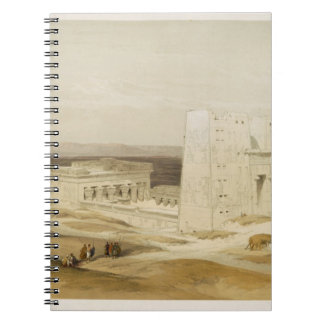 Temple of Edfu, ancient Apollinopolis, Upper Egypt Spiral Notebook