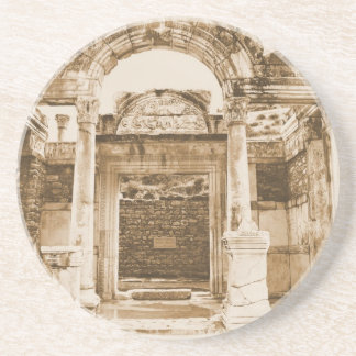 Temple of Hadrian in Ephesus VINTAGE photograph Coaster