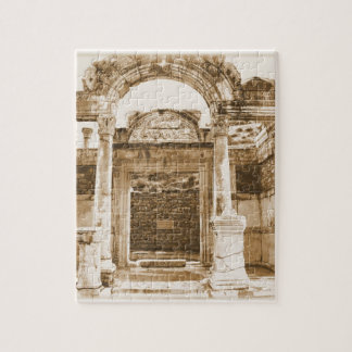Temple of Hadrian in Ephesus VINTAGE photograph Jigsaw Puzzle
