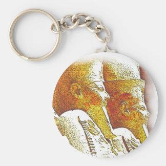 Temple_of_Hatshepsut Basic Round Button Key Ring