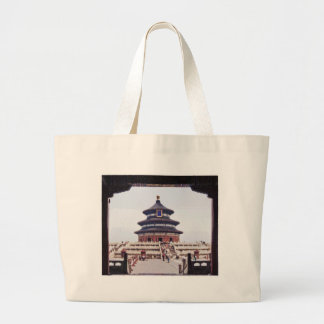 Temple Of Heaven Drawing Tote Bags