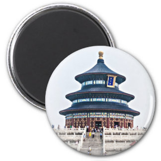 Temple of Heaven 6 Cm Round Magnet