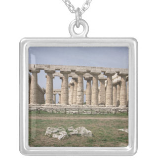 Temple of Hera I Silver Plated Necklace