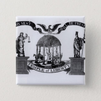 Temple of Liberty, 1834 15 Cm Square Badge