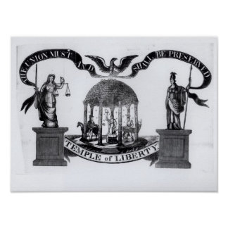 Temple of Liberty, 1834 Poster