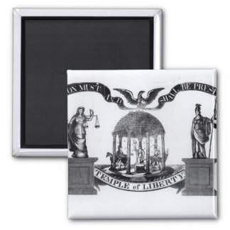 Temple of Liberty, 1834 Square Magnet