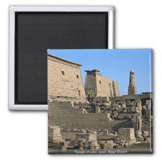 Temple of Luxor, Luxor, Egypt Desert Square Magnet
