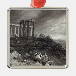 Temple of Minerva Sunium, engraved by J. Saddler Christmas Ornament