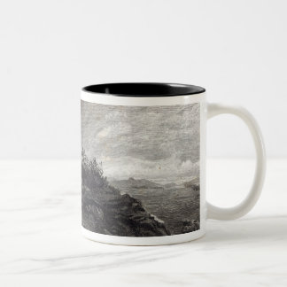 Temple of Minerva Sunium, engraved by J. Saddler Two-Tone Coffee Mug
