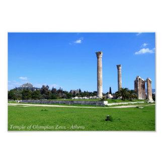 Temple of Olympian Zeus - Athens Photo Art