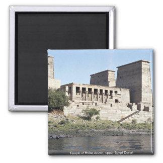 Temple of Philae Aswan, upper Egypt Desert Square Magnet