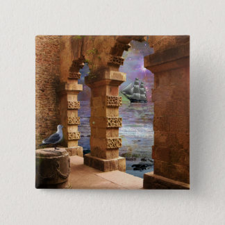 Temple of Poseidon 15 Cm Square Badge