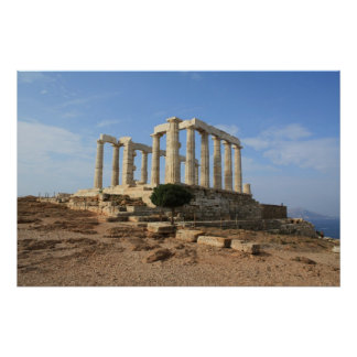 Temple of Poseidon Poster