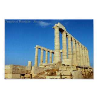Temple of Poseidon - Sounio Poster