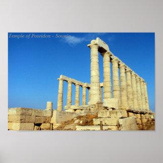 Temple of Poseidon - Sounio Poster