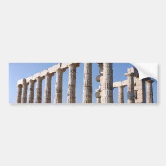 Temple of Poseidon, Sounion, Greece Car Bumper Sticker