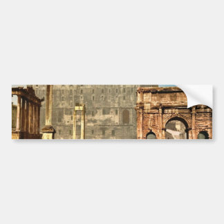 Temple of Saturn and Triumphal Arch of Septimus Se Car Bumper Sticker