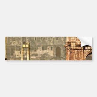 Temple of Saturn and Triumphal Arch of Septimus Se Bumper Sticker