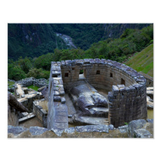 Temple of the Sun, Machu Picchu 11x14 Poster