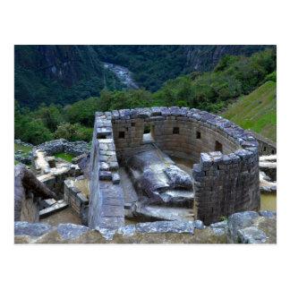 Temple of the Sun, Machu Picchu, Peru Postcard