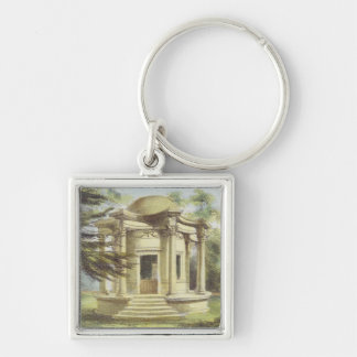 Temple of Victory, Kew Gardens, plate 19 from 'Kew Silver-Colored Square Key Ring