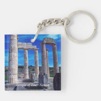 Temple of Zeus – Nemea Double-Sided Square Acrylic Keychain