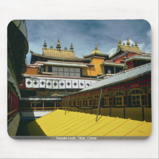Temple roofs, Tibet, China Mousepads