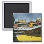 Temple roofs, Tibet, China Refrigerator Magnet