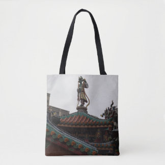 Temple & Statue Tote Bag