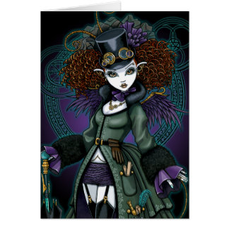Temple Steampunk Vampire Angel Postcard Greeting Cards