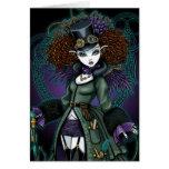 Temple Steampunk Vampire Angel Postcard Greeting Card