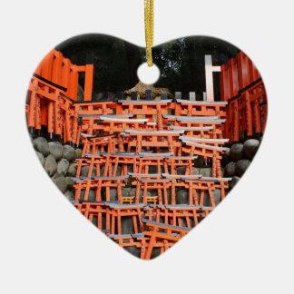 Temple Stone Far East Ceramic Heart Decoration