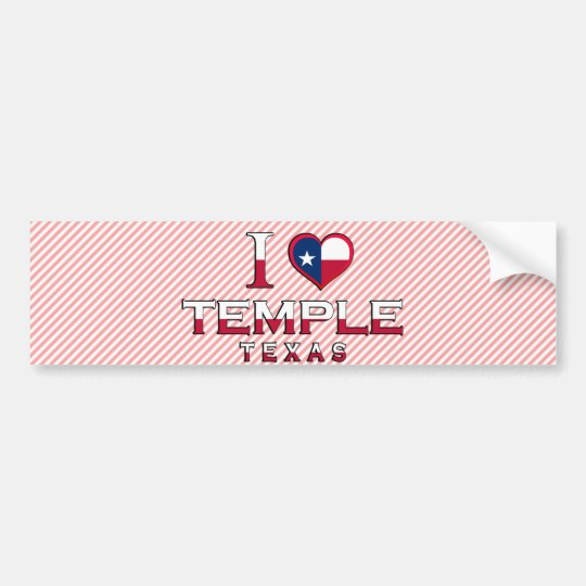 Temple, Texas Bumper Sticker
