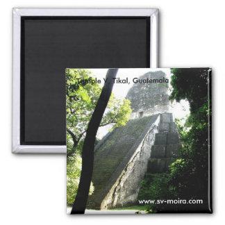 Temple V, Tikal, Guatemala Magnet