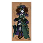 Temple Victorian Steampunk Time Traveller Angel Poster