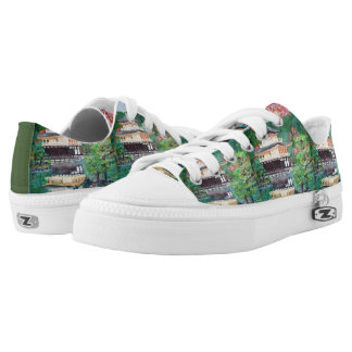 Temple , Zipz Low Top Shoes, US Men 4 / US Women 6 Printed Shoes