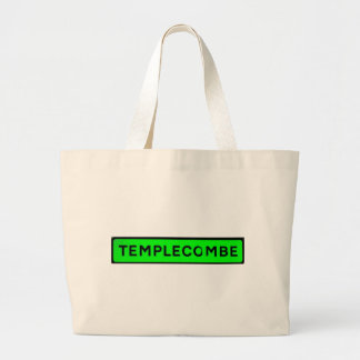templecombe green large tote bag