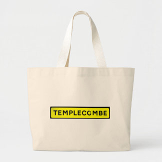 templecombe yellow large tote bag