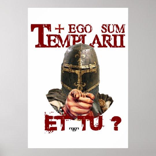 Templerposter ego Sum Templarii Et do? Poster