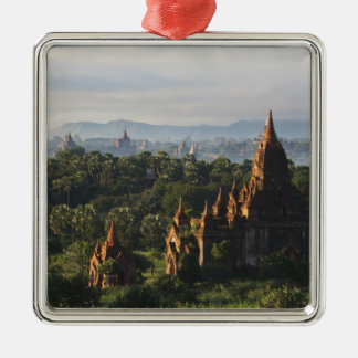 Temples at sunrise, Bagan, Myanmar Christmas Ornament