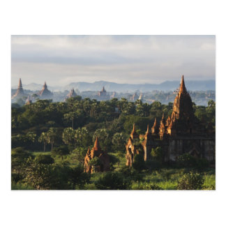 Temples at sunrise, Bagan, Myanmar Postcard